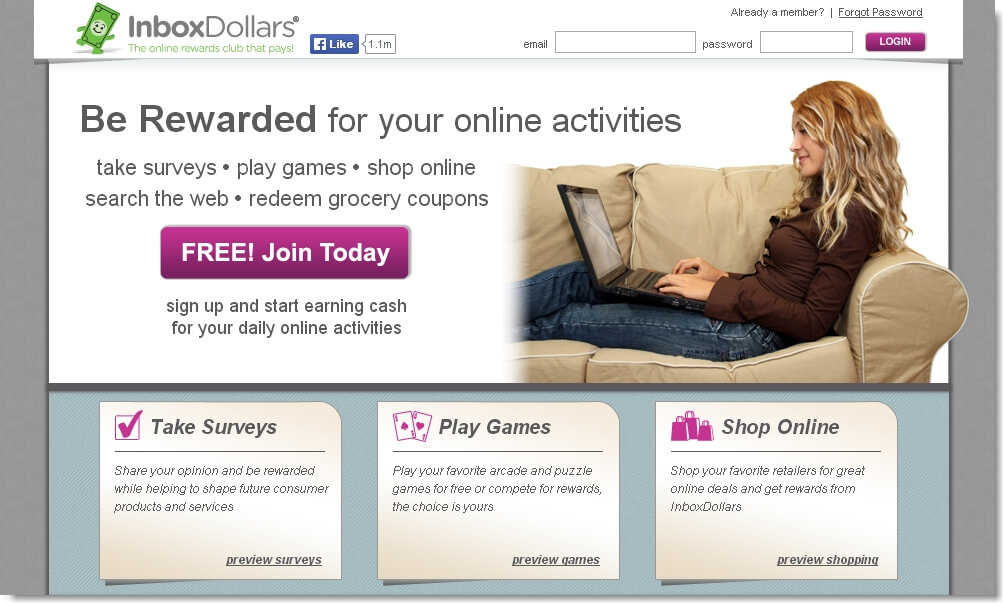 Inbox Dollars Paid Survey Site