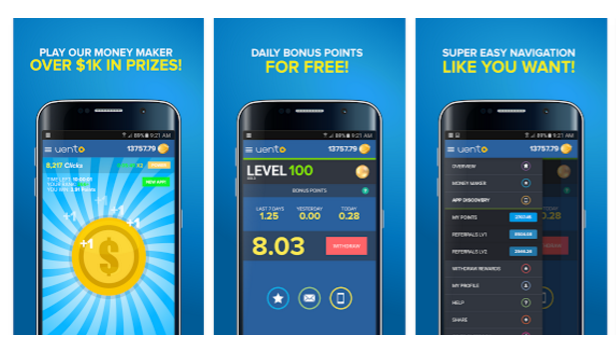 Uento money-making app