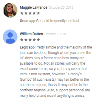 Field Agent app reviews in Google app store