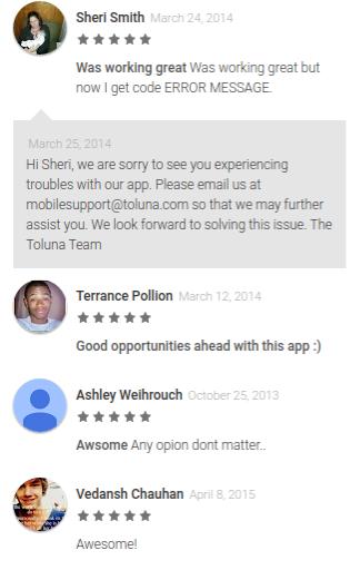 Toluna paid survey app reviews
