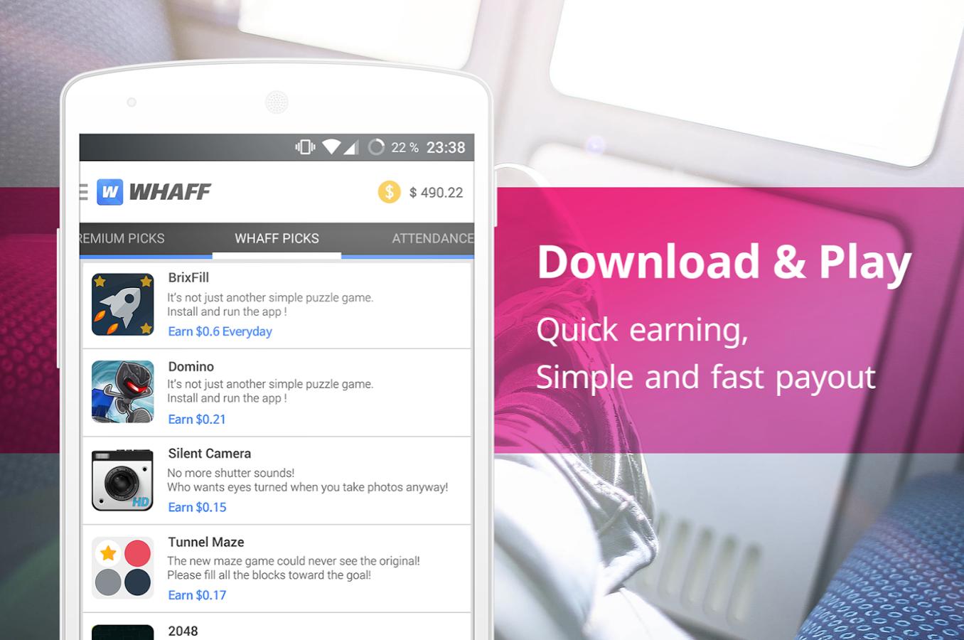 WHAFF Rewards app