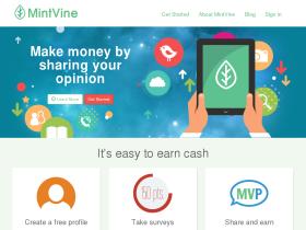 MintVine Paid Survey Site