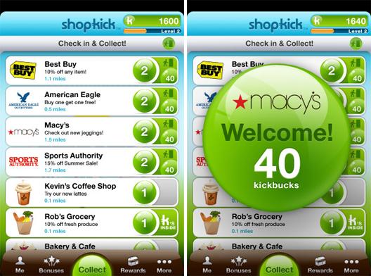 Shopkick User Interface