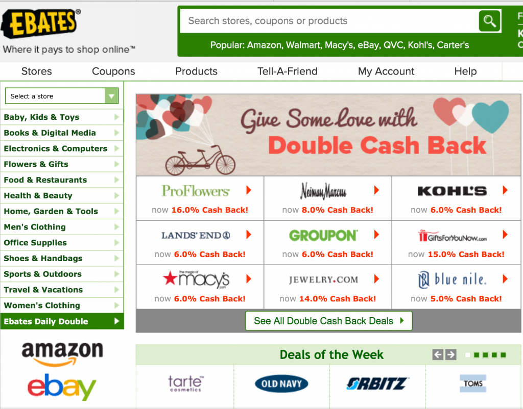 eBates cashback rewards app