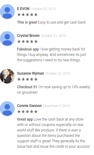 reviews of the Checkout 51 savings app