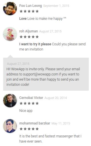 WowApp Messenger app reviews