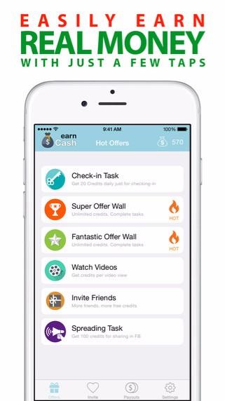Earn Cash App Interface