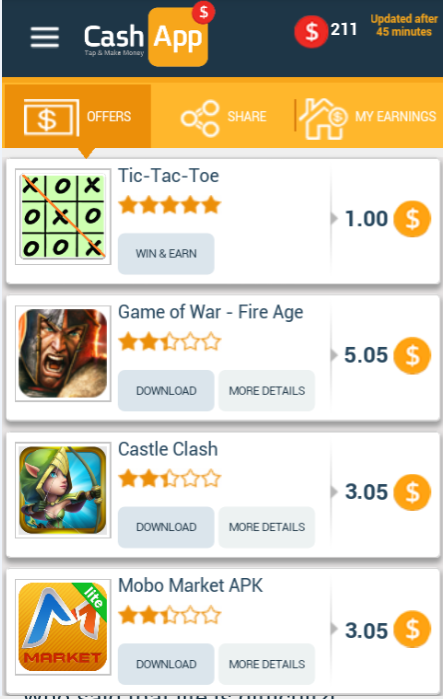 Cash App rewards application